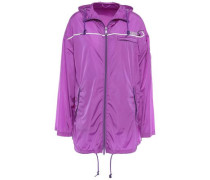 Printed Shell Hooded Jacket Violet