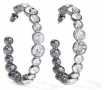 Gunmetal-tone crystal earrings
