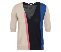 Color-block Wool, Cashmere And Silk-blend Top Multicolor
