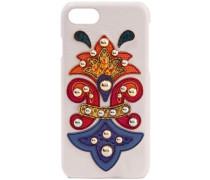Embellished Ayers-appliquéd Textured-leather Iphone 7 Case Pastel Pink Size --
