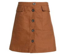 Flared Cotton-twill Skirt Camel