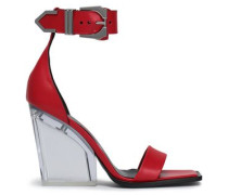 Leather and Perspex sandals