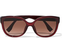 Cat-eye Crystal-embellished Acetate Sunglasses Burgundy Size --
