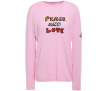 Woman Intarsia Cashmere-blend Sweater Baby Pink