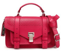 Perforated leather tote