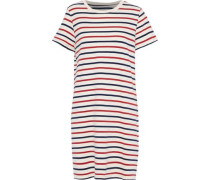 The Beatnik Striped Cotton-jersey Mini Dress Ivory Size 0