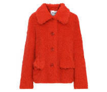 Woman Noemie Faux Shearling Coat Red