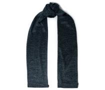 Woman Metallic Crochet-knit Scarf Midnight Blue