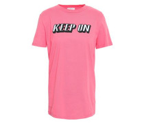 Embroidered Cotton-jersey T-shirt Bubblegum