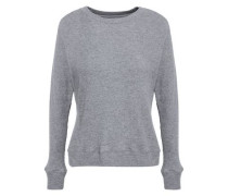 Ribbed Cotton And Cashmere-blend Sweater Gray