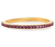 Gold-plated crystal ring