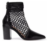 Rosmari lattice-paneled leather ankle boots