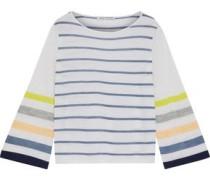 Striped Cashmere Top Ecru
