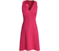Linen-blend Dress Fuchsia