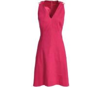 Linen-blend Dress Fuchsia