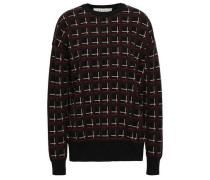 Checked Wool-jacquard Sweater Black