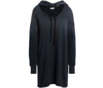 Cutout dégradé cotton-fleece hooded sweatshirt