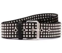 Stanka Studded Leather Belt Black  0