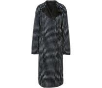 Polka-dot Voile Coat Black