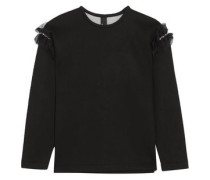 Helma embellished tulle-trimmed cotton and modal-blend neoprene sweatshirt