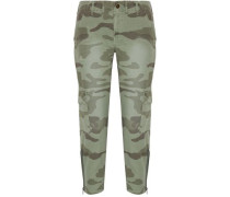The Utilitarian camouflage-print cotton-canvas tapered pants