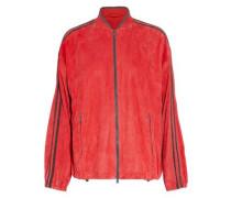 Bead-embellished suede jacket