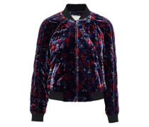 Mace quilted floral-print velvet bomber jacket