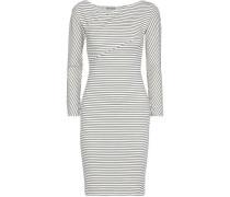 Denna Ribbed Striped Stretch-jersey Dress Black