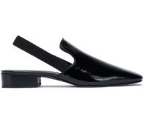 Patent-leather slingback flats
