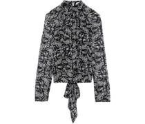 Zariah Tie-back Printed Georgette Top Black