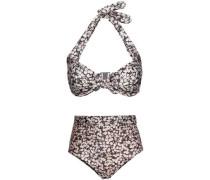 Printed Halterneck Bikini Black Size 1 A