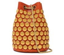 Popeye studded leather bucket bag