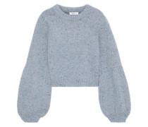 Mélange Wool-blend Sweater Sky Blue