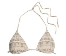 Giselle Printed Triangle Bikini Top Ecru