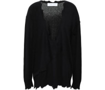 Gnotta Distressed Cotton And Cashmere-blend Sweater Black