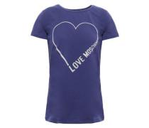 Printed Stretch-cotton Jersey T-shirt Royal Blue