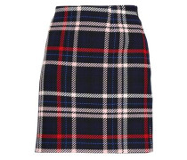 Steph Checked Woven Mini Skirt Navy