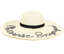 Bunny Embroidered Paper-blend Sunhat Sand Size ONESIZE