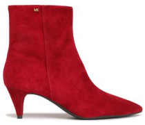 Blaine Suede Ankle Boots Crimson