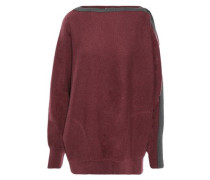 Woman Bead-embellished Cashmere Sweater Burgundy