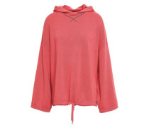 Bead-embellished Cashmere Hooded Sweater Coral