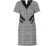 Fringed cotton-blend tweed mini dress