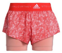 Printed Shell Shorts Red