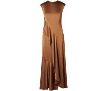 Woman Zariah Draped Satin-crepe Maxi Dress Camel