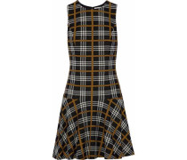 Fonda checked jacquard mini dress