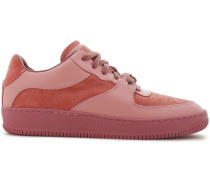 Woman Suede And Leather Sneakers Antique Rose