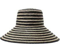 Annabelle Striped Straw Hat Black Size ONESIZE