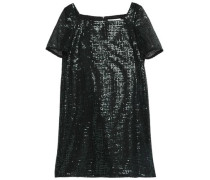 Sequined woven mini dress
