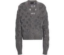 Open-knit Wool-blend Cardigan Anthracite