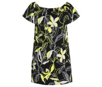 Floral-print cotton-blend poplin mini dress